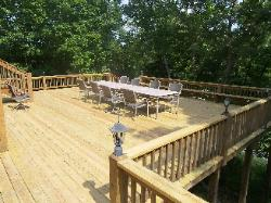Replaced decking in Reeds Springs, MO
